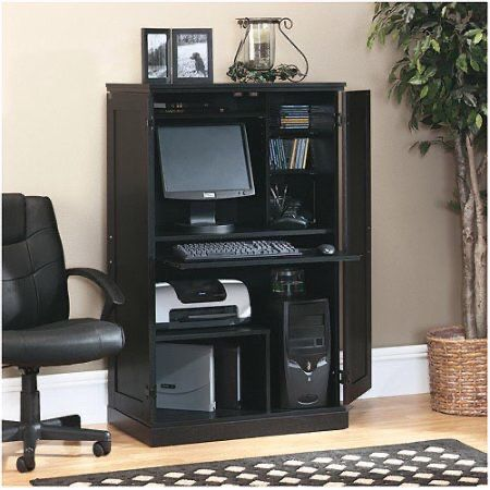 FREE COMPUTER Cabinet : Computer armoire with hidden desk