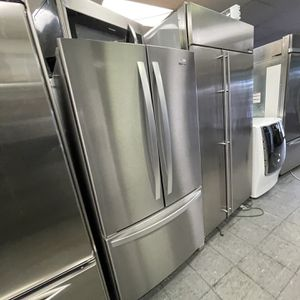 Stainless Steel Whirlpool French Door Fridge For Only $1,000 for Sale in Lake Elsinore, CA