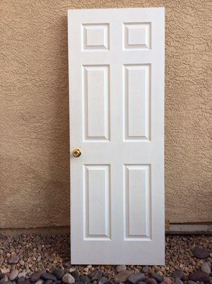 Indoor bedroom bathroom 6 panel door locking for Sale in Henderson, NV