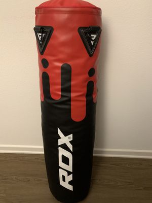 RDX Black/Red boxing Bag with bolts boxing gloves and wraps for Sale in Irvine, CA