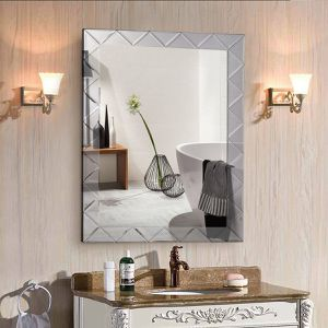 21.5 x 30.5 Rectangle Wall Mirror Frame Angled Glass Panel for Sale in Lake Elsinore, CA