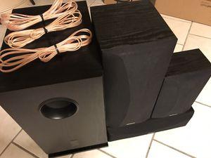 Onkyo Speakers & Subwoofer w/ speaker wire for Sale in Chandler, AZ