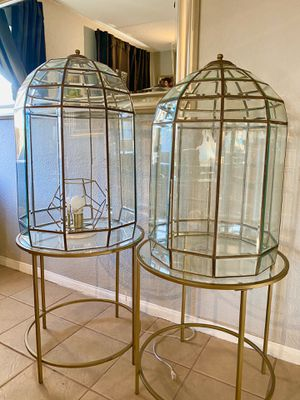 Antique Luxury Estate Glass Dome Terrariums for Sale in Los Angeles, CA