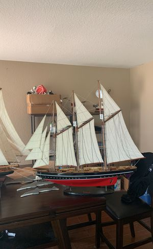 Wooden sailboat . Gift company showroom sample for sale for Sale in Chino Hills, CA