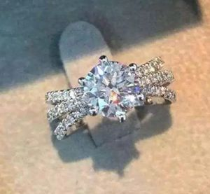 $12 brand new size 7 silver plated CZ ring for Sale in Manchester, MO