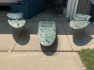 Antique glass tables for Sale in Chicago, IL