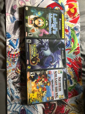 Nintendo GameCube Games / Pokémon XD/ Smash Bro's Melee / Luigis Mansion /Mario Sunshine for Sale in West Hollywood, CA