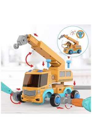 Take Apart Car STEM Toy Building Set for 3 4 5 Year Old Boy & Girl with Electric Toy Drill and Remote Control Construction Vehicle Kids Toy Crane Car for Sale in Rancho Cucamonga, CA