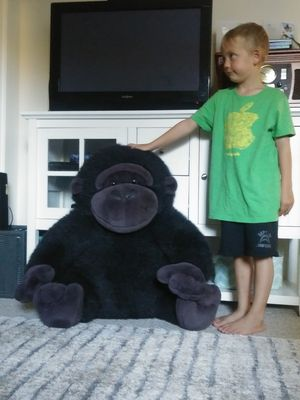 Big giant stuffed ape gorilla animal plush kids decoration toys jungle forest playroom nursery for Sale in San Diego, CA