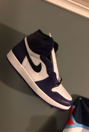Jordan 1 court purple for Sale in Tyngsborough, MA