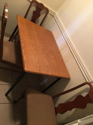 4 chair table (only 3 shown) for Sale in Salt Lake City, UT