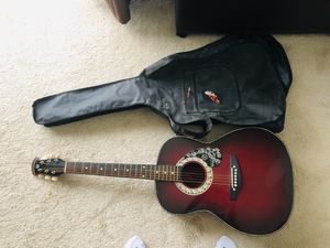 Guitar with cover $55 for Sale in Los Angeles, CA
