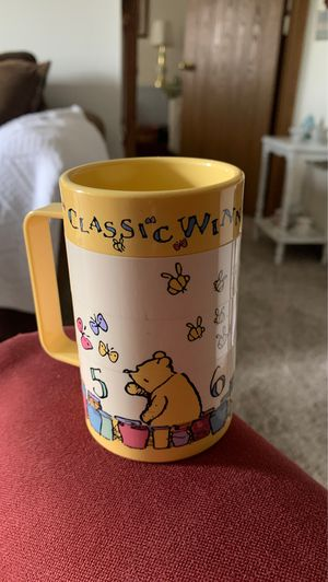 Disney Pooh Rotating Puzzle Plastic Mug Training Cup Kids for Sale in Wyoming, MI
