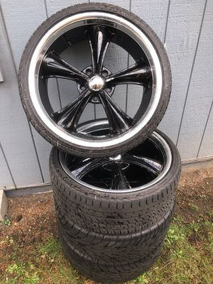 """Boss motorsports 20"""" rims and tires for Sale in Tacoma, WA"""