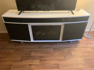 Modern TV Stand with fireplace and soundbar for Sale in Irvine, CA