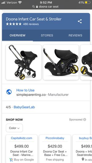 Dona Infant Car Seat and Stroller for Sale in San Diego, CA