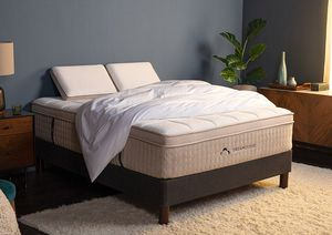 Dreamcloud king sized luxury mattress and Malm bed frame for Sale in Olympia, WA