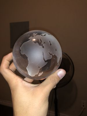Crystal Antique World Globe for Sale in Fresno, CA