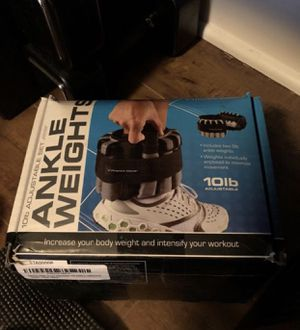 Ankle Weights Adjustable 10 lbs for Sale in San Francisco, CA