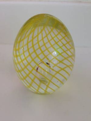 Yellow spiraled egg-shaped glass item for Sale in Seattle, WA