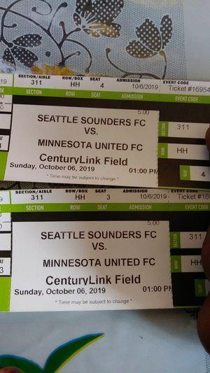 Sounders tickets for Sale in Seattle, WA