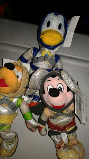 Mickey mouse, Goofy not pictured , Pluto, Donald duck space beanies from Disney world rare for Sale in Mount Washington, KY
