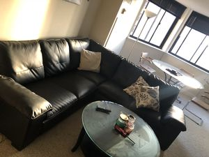 Black Leather Couch for Sale in Baltimore, MD