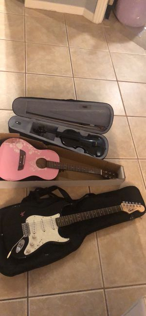 electric guitar, acoustic guitar and violin for Sale in Orlando, FL