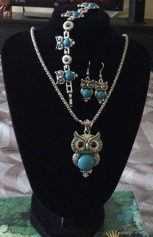 Vintage Turquoise Owl 3pcs Jewelry Set for Sale in Orlando, FL