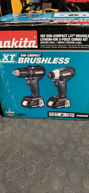Makita 18-Volt LXT Lithium-Ion Sub-Compact Brushless Cordless 2-piece Combo Kit (Driver-Drill/ Impact Driver) 2.0Ah for Sale in Orlando, FL