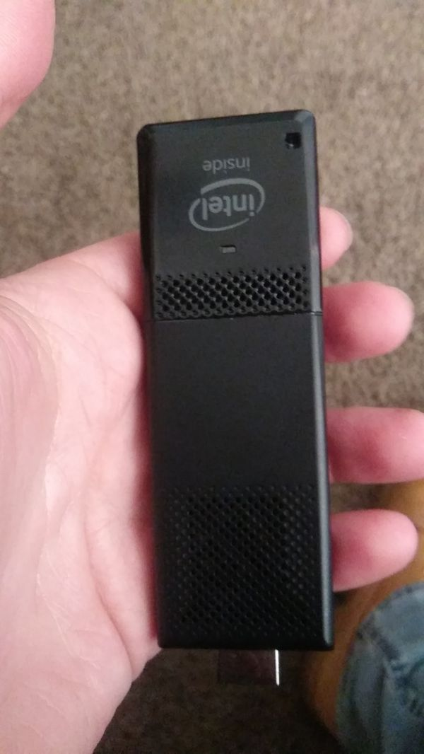 Intel Compute Stick. Windows 10. 2 gigs or ram and 32 gig hdd. With sd slot. 2 usb slots