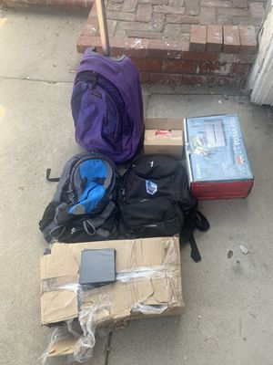 Free - backpacks, cd cases, toothbrushes, printer, video camera. for Sale in Rancho Cucamonga, CA