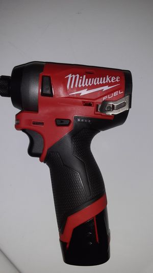 M12 FUEL 12-Volt Lithium-Ion Brushless Cordless 1/4 in. Hex Impact Driver with battery for Sale in Houston, TX