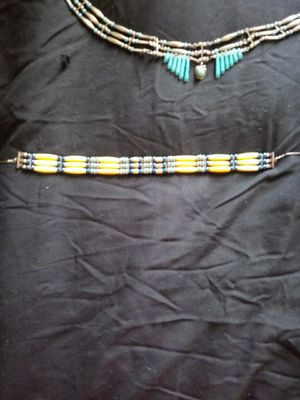Handmade Bone and silver choker for Sale in Fortuna Foothills, AZ