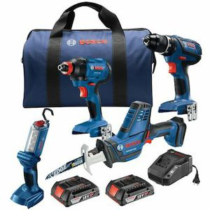 36 View Q&A Bosch4-Tool 18-Volt Power Tool Combo Kit with Soft Case (Charger Included and 2-Batteries for Sale in Anderson, SC