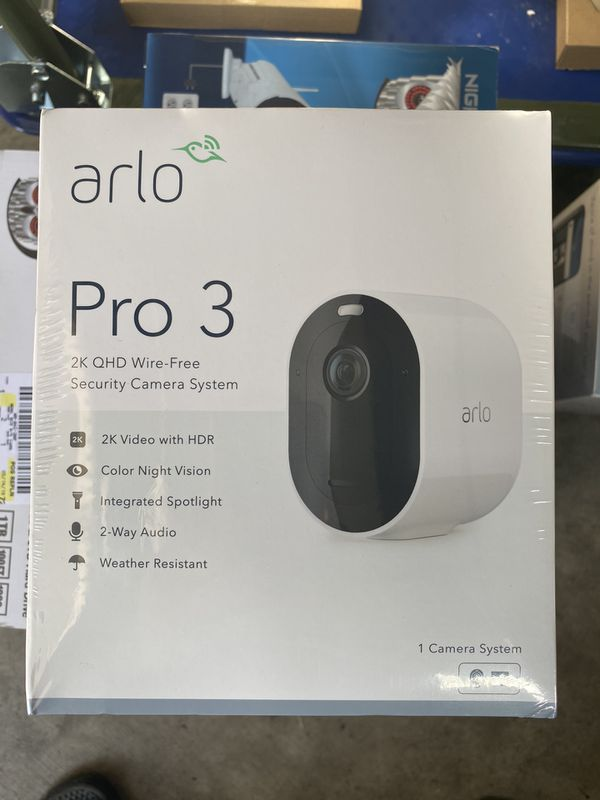 Brand New Arlo Pro 3 System Security Camera Wirefree VMS4141P-100NAS QHD 2K HDR