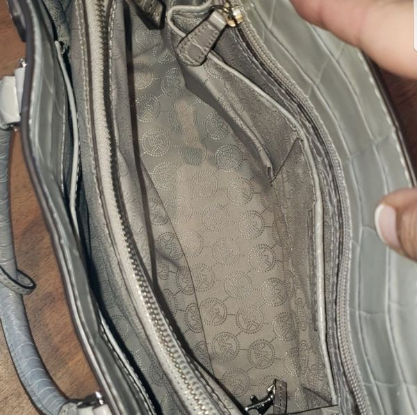 BNWT Michael Kors Dillion Embossed Gray Tote