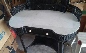 Wicker desk for Sale in West Palm Beach, FL