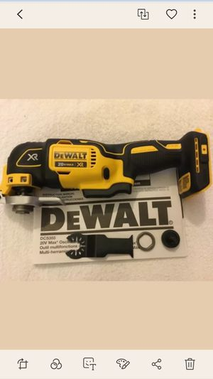 Brand new dewalt 20v xr brushless oscillating tool with blades tool only for Sale in Fresno, CA