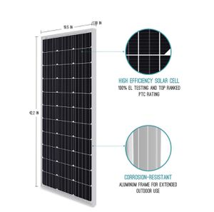 Renogy 100 Watt 12 Volt Monocrystalline Solar Panel Compact Design. High Efficiency Module PV Power for Battery Charging Any Other Off Grid Applicati for Sale in Tempe, AZ