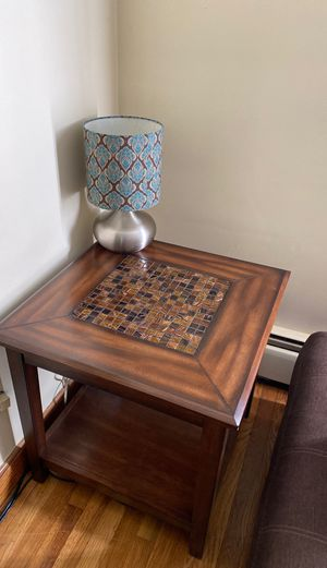 Mosaic Tile Side Table for Sale in Malden, MA