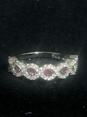 Sterling Silver Red CZ Ring for Sale in Las Vegas, NV
