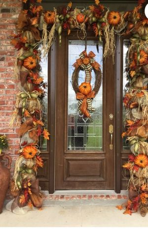 Front door thanksgiving fall decor for Sale in Oklahoma City, OK