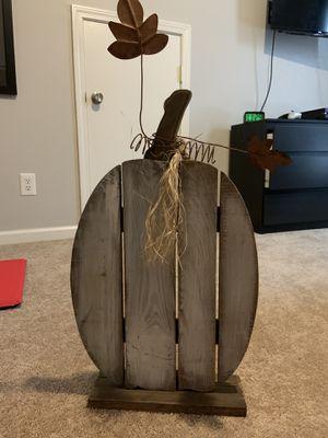 Wooden pumpkin deco for Sale in Concord, NC