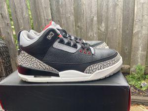 Jordan retro 3 cement for Sale in Belleville, MI