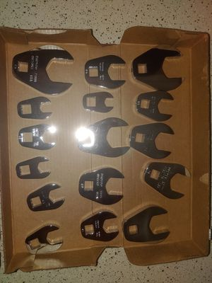 """NEW STANLEY CROWFOOT 3/8"""" METRIC WRENCH SET - 16 pc BEST OFFER for Sale in Bellflower, CA"""