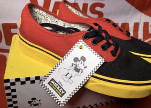 🔴🔶◾️ Mickey Mouse Vans Authentic Shoes Disney Men size 3.5 • 4 • 10 • new in the box for Sale in Apple Valley, CA
