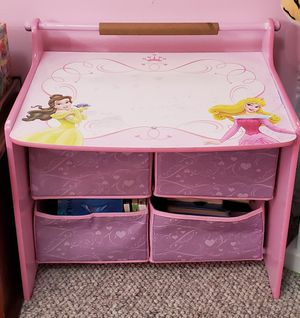 Toddler writing drawing desk with a green stool for Sale in Annandale, VA