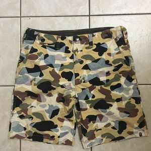 Worn Bape Bathing Ape OG Camo & Stars Shorts Sz Medium for Sale in Rowland Heights, CA