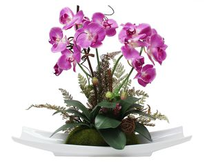 "Artificial orchid 18"" inches tall, adjustable flexible stem, decorative plant for Sale in Chino Hills, CA"